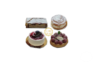 Bandeja de 4 pasteles variados