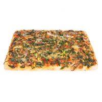 Porción pizza verduras variadas